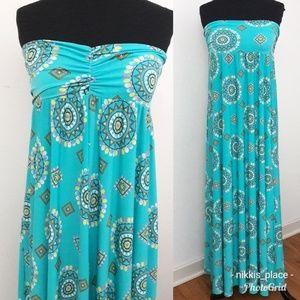 New York & Company Strapless Maxi Dress